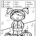 Fern Smith's Free Fall Fun! Basic Addition Facts   Color Your   Free Printable Fall Math Worksheets