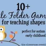 File Folder Games For Teaching Shapes   Free Printable Folder Games