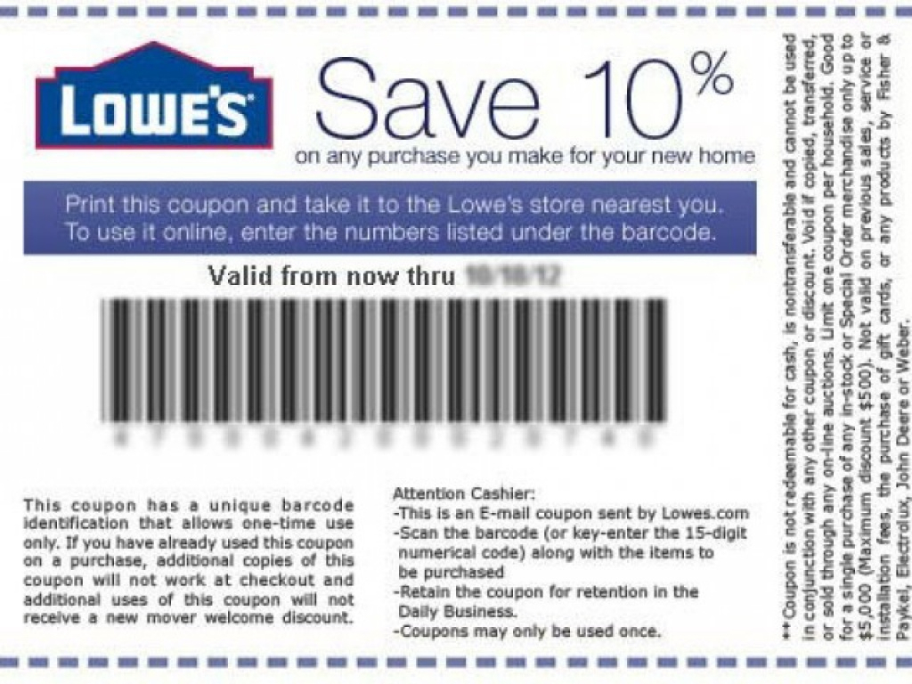 Finding Lowes Coupons Printable Online   Coupon Codes Blog Intended - Free Printable Lowes Coupons