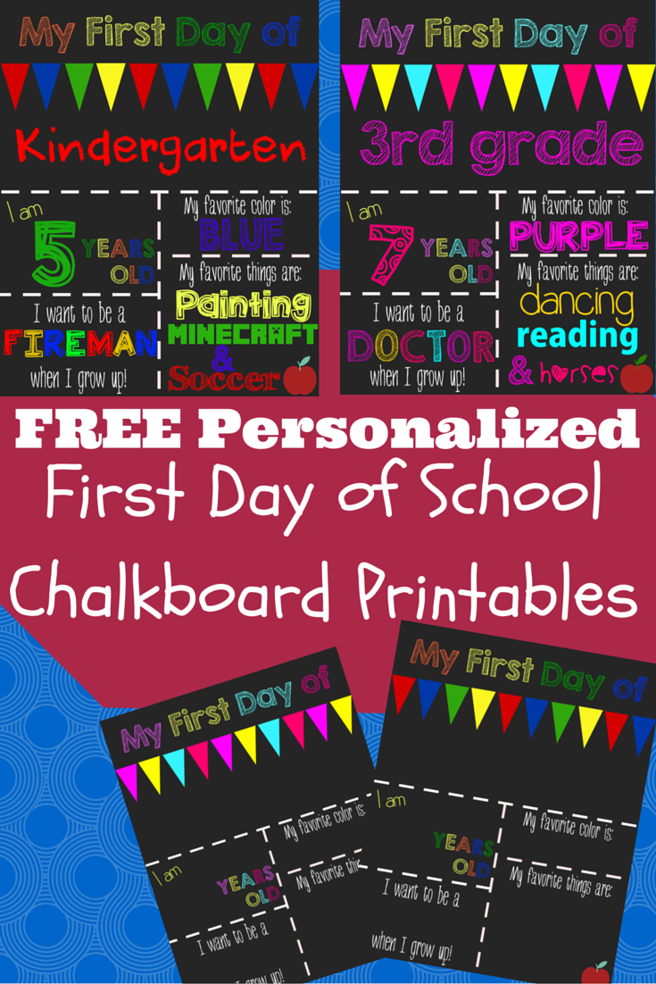 First Day Of School Printable Chalkboard Sign | Kiddos!! | Pinterest - First Day Of School Printable Free