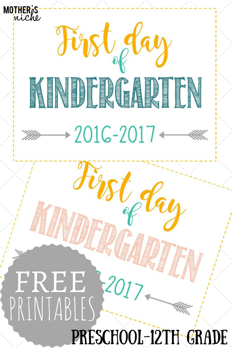 First Day Of School Signs: Free Printables *pre-School- 12Th Grade* - First Day Of School Printable Free