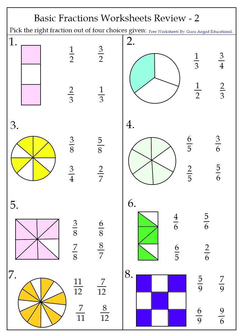 First Grade Fraction Worksheet Worksheets For All Download And P - Free Printable First Grade Fraction Worksheets