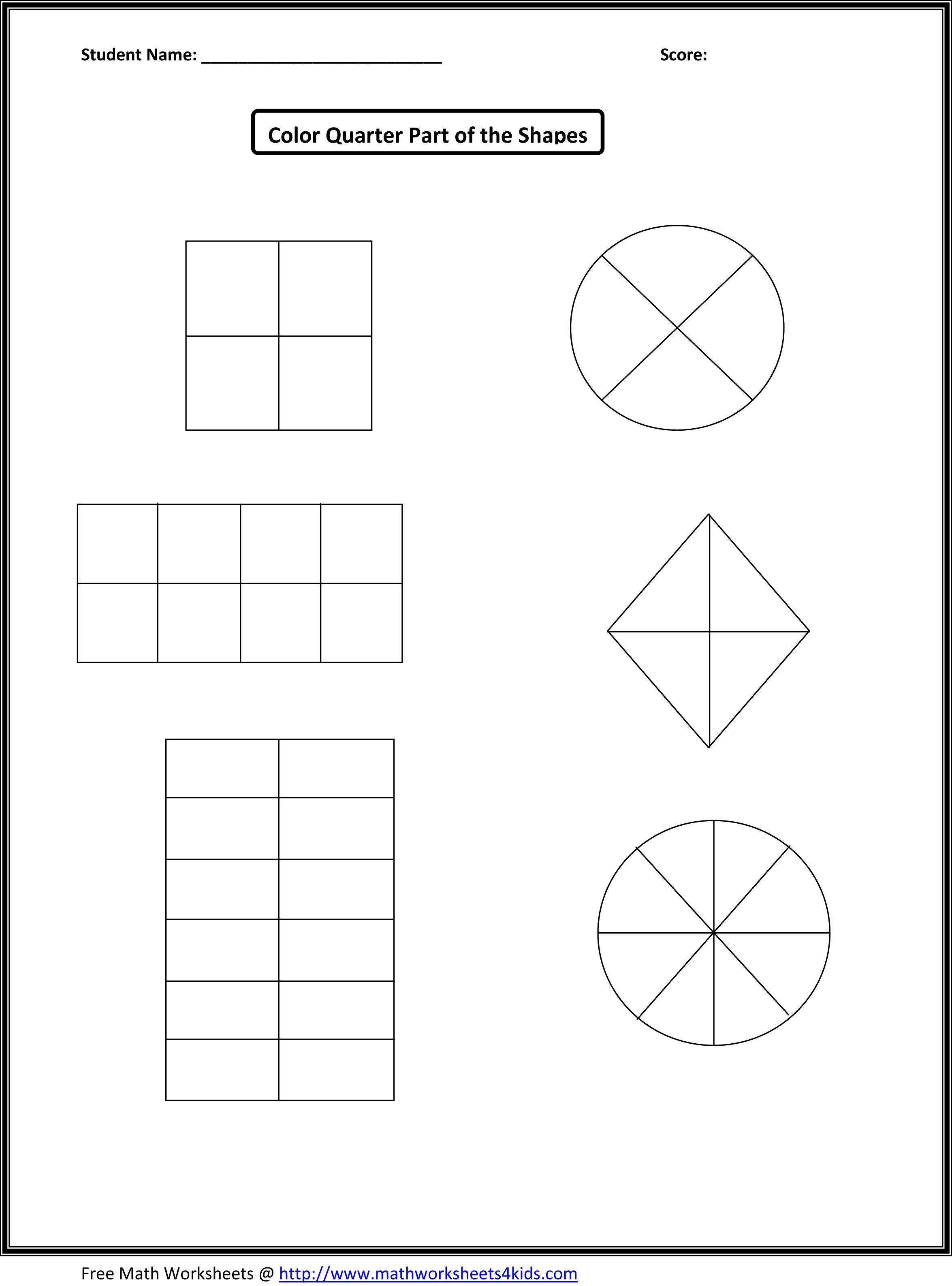 First Grade Fraction Worksheets For Download Free - Math Worksheet - Free Printable First Grade Fraction Worksheets