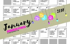 Fitness Challenge – 30 Day Fitness Advanced Workout January 2018 – Free Printable Workout Routines