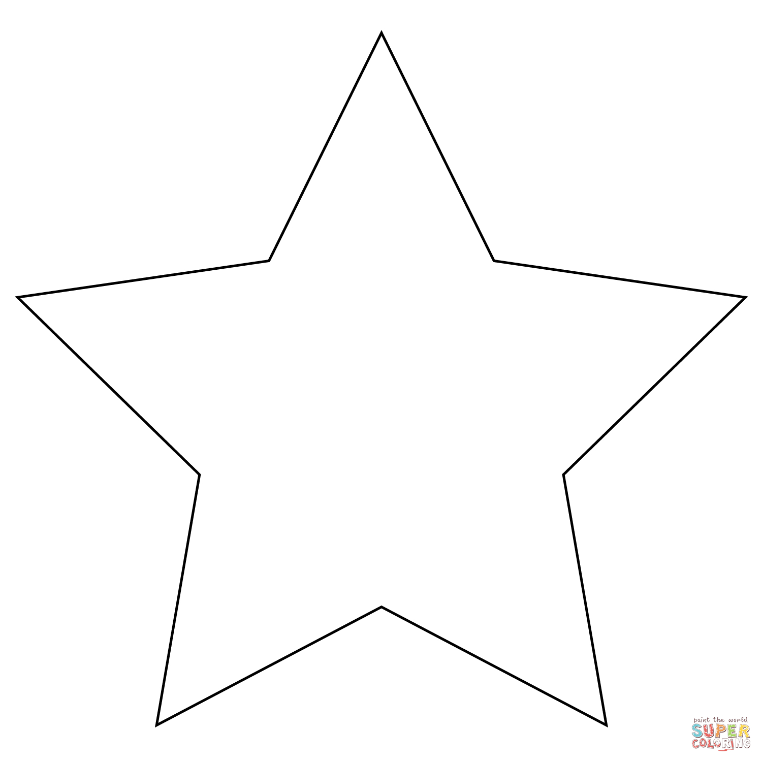 Five Pointed Star Coloring Page | Free Printable Coloring Pages - Star Of David Template Free Printable