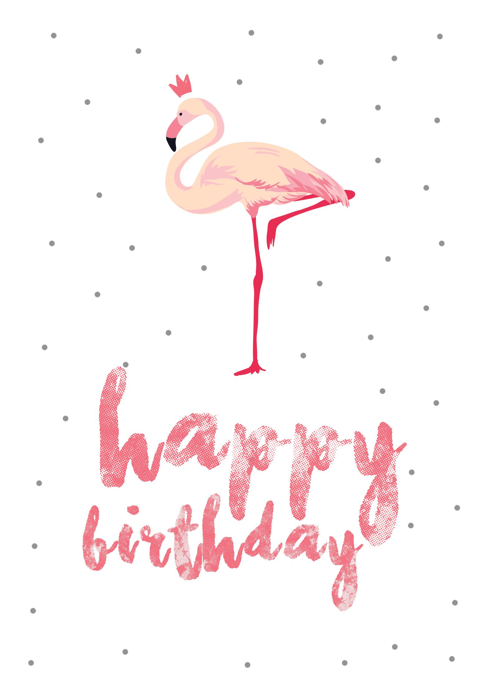Flamingo Birthday - Free Printable Birthday Card | Greetings Island - Free Printable Thinking Of You Cards