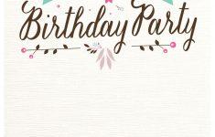 Flat Floral – Free Printable Birthday Invitation Template – Free Printable Birthday Invitations Pinterest