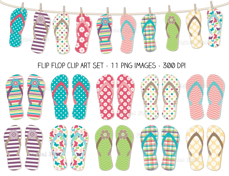 Flip Flop Printable Clipart - Free Printable Flip Flop Pattern