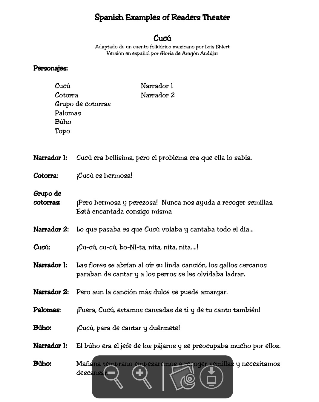 Fluency (Spanish): Reader's Theater Scripts   Building Rti - Free Printable Readers Theater Scripts 3Rd Grade