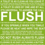 Flush The Toilet Quotes And Sayings Free Printable   Bathroom   Free Printable Flush The Toilet Signs