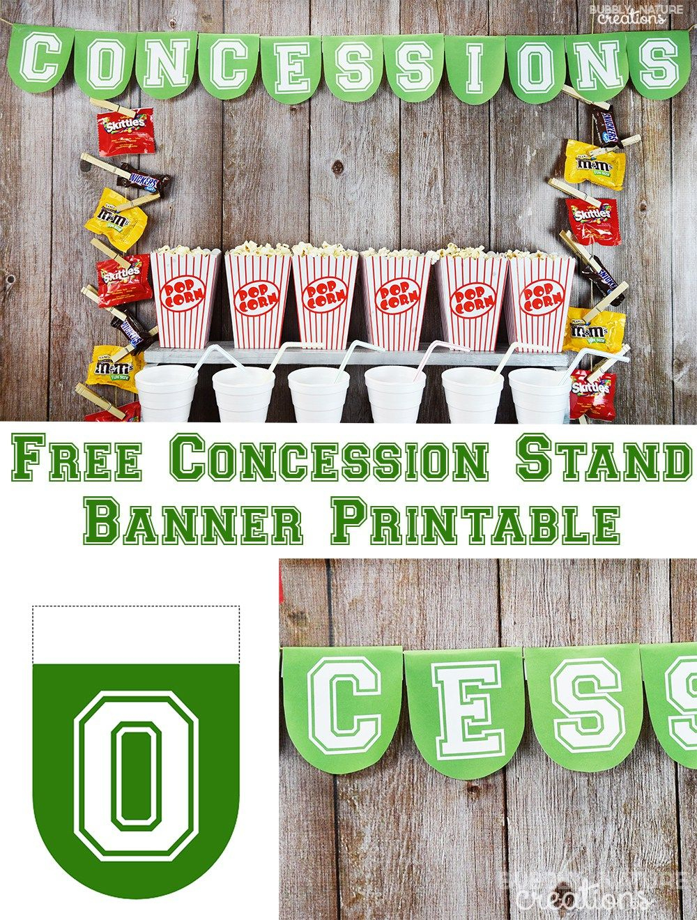 Football Party Concession Stand | Recipe | Football Mom | Basketball - Free Concessions Printable