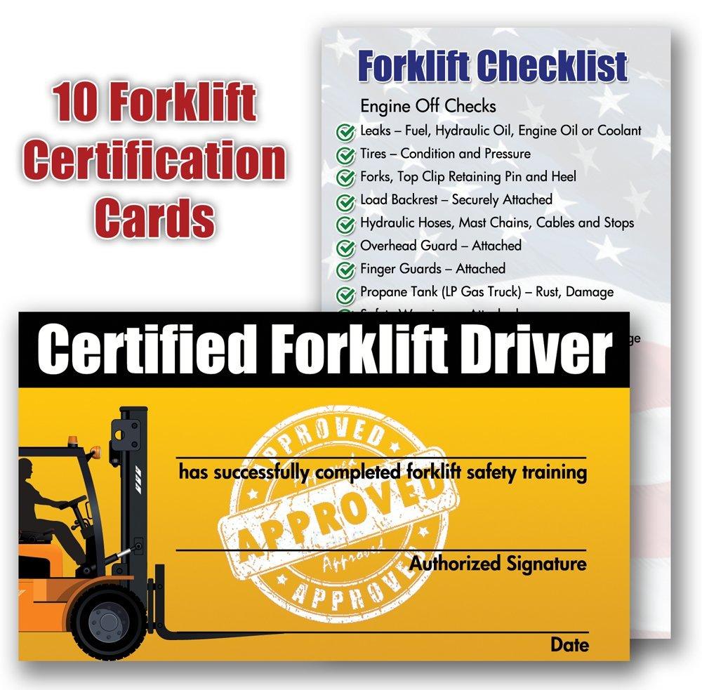 Forklift License Template Download Free Forklift Certification Card - Free Printable Forklift License Template