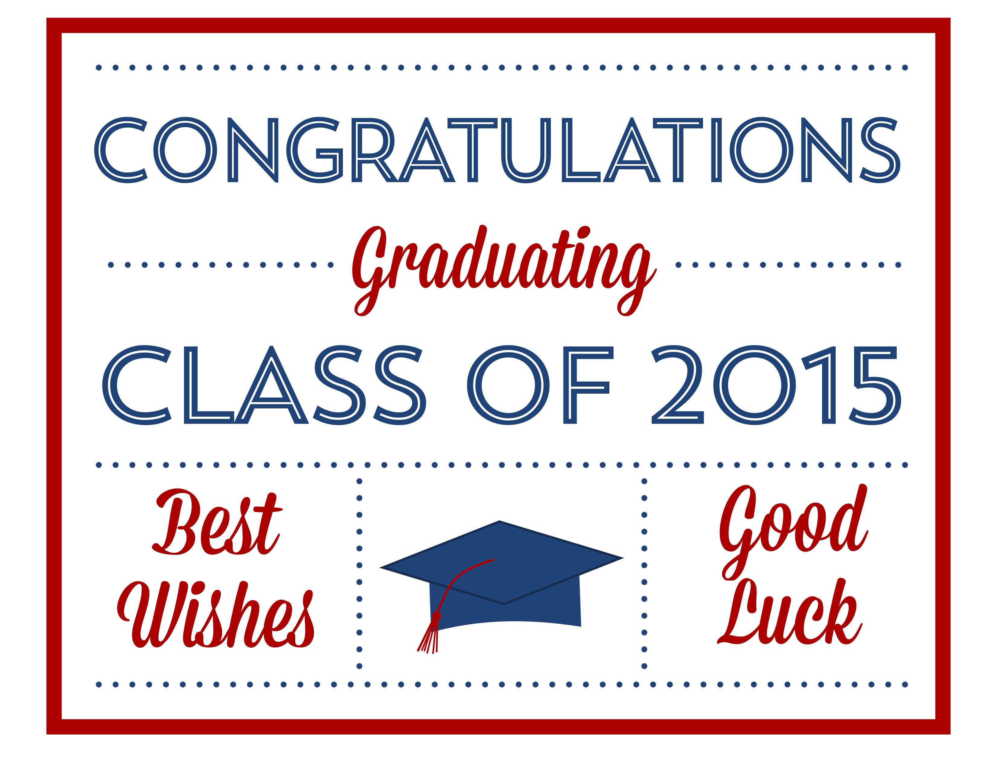 Free 2015 Graduation Printables | Catch My Party - Free Printable Graduation Invitations 2014