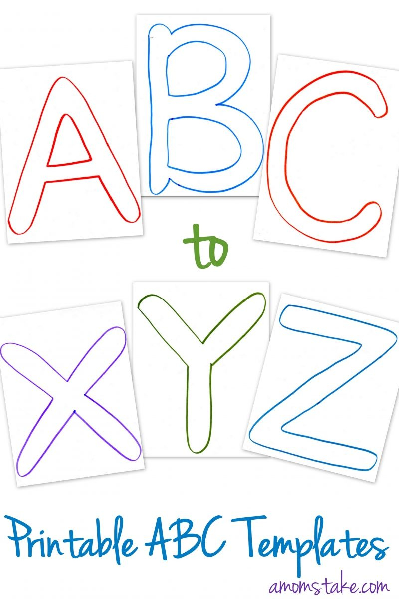 Free Abc Printable Letter Templates For Preschool Or Learning - Free Printable Alphabet Templates