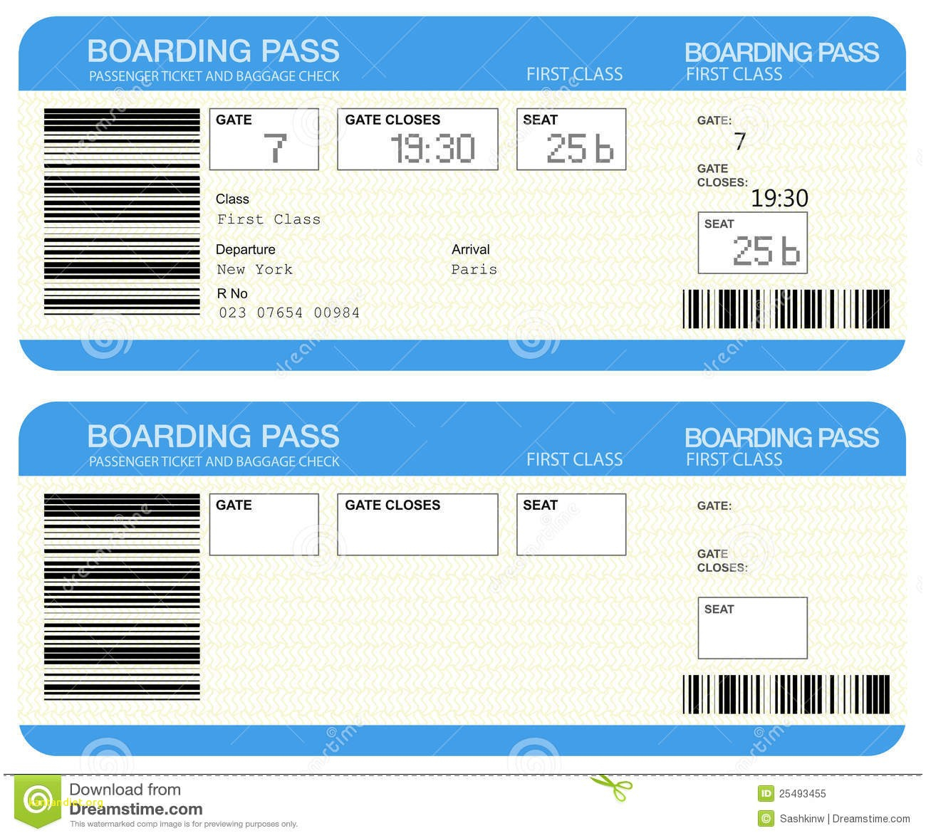 Free Airline Ticket Boarding Pass Vector Download  Template Pics - Free Printable Boarding Pass