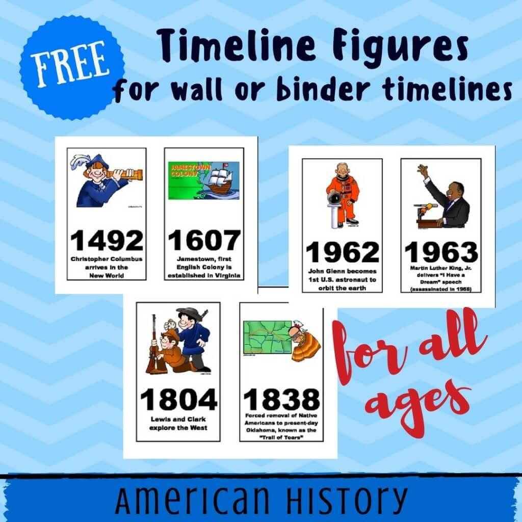 Free American History Timeline Figures Printables Homeschool   World - Free Printable Timeline Figures