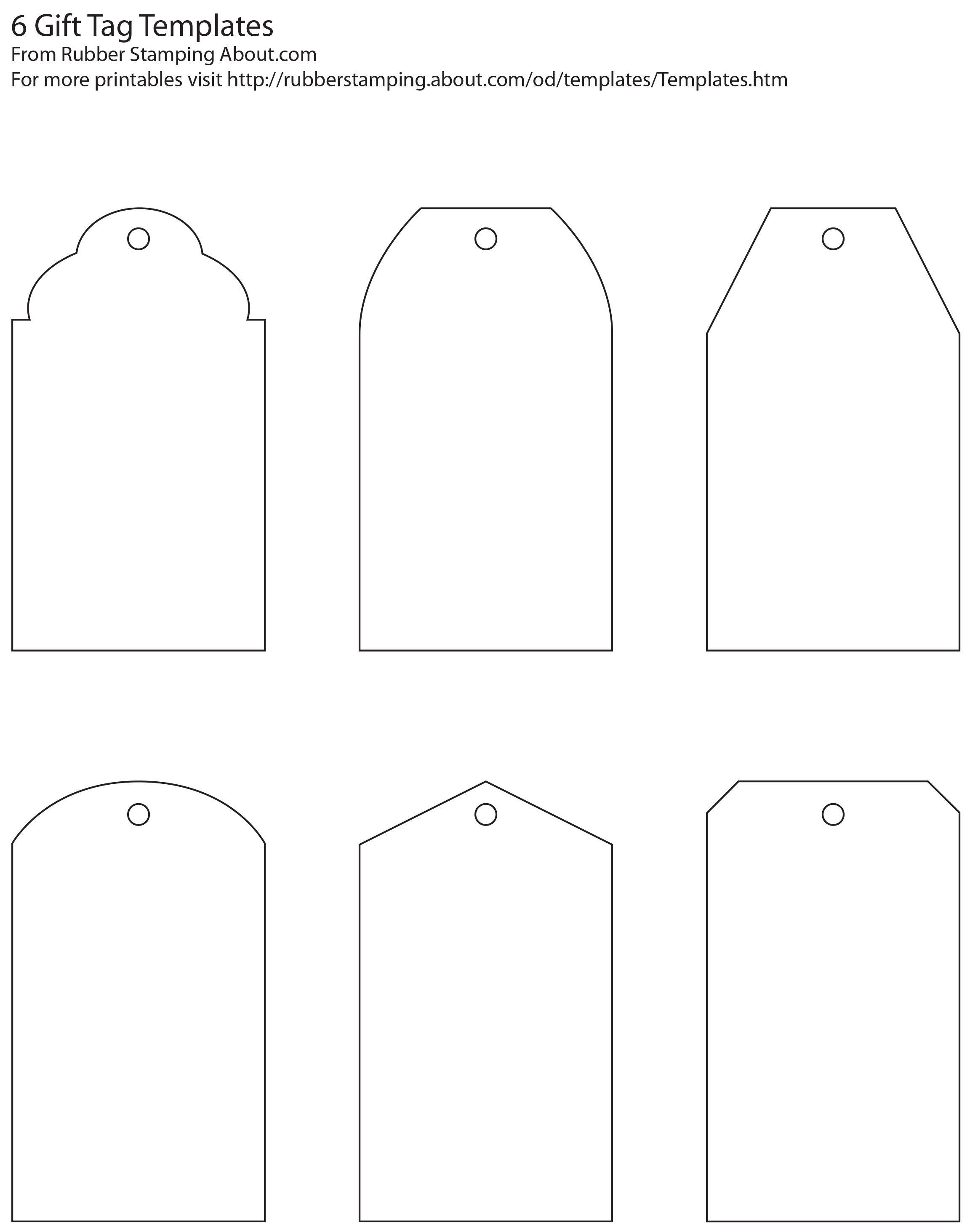 Free And Whimsical Printable Gift Tag Templates   Great Idea - Diy Gift Tags Free Printable