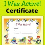 Free Award Certificate   I Was Active (Primary | Managing Recess   Good Behaviour Certificates Free Printable