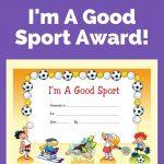 Free Award Certificate   I'm A Good Sport (Primary | Rewarding Good   Good Behaviour Certificates Free Printable