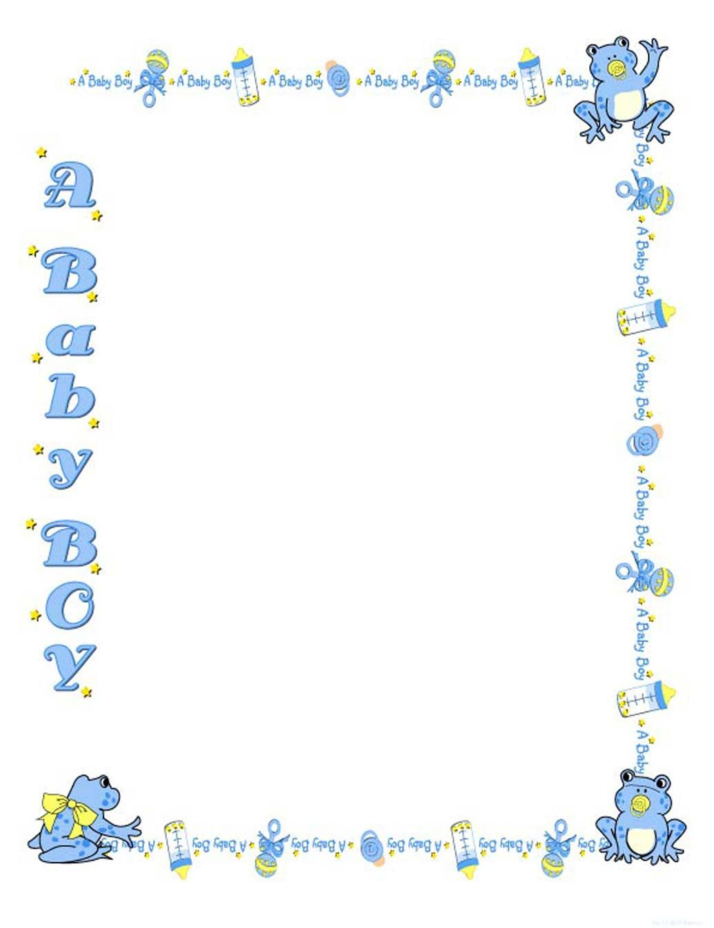 Free Baby Shower Border Templates - Cliparts.co | Baby Shower - Free Printable Baby Borders For Paper