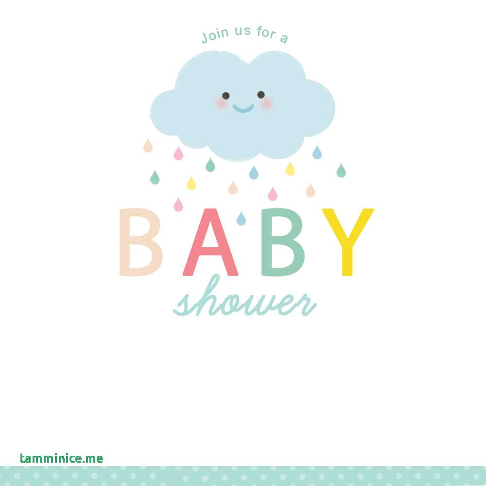 Free Baby Shower Clipart For Invitations Unique Shower Cloud Free - Free Printable Baby Shower Clip Art