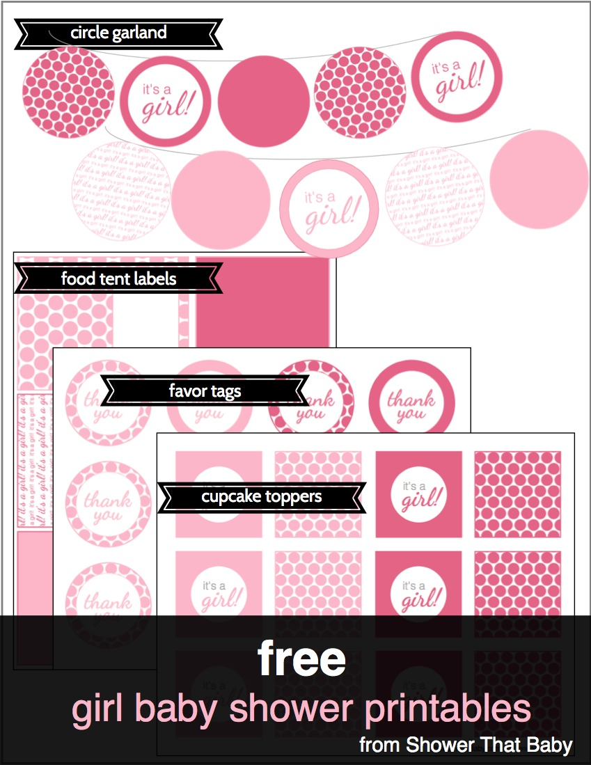 Free Baby Shower Printables | Shower That Baby - Baby Girl Banner Free Printable