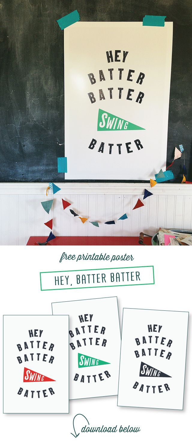 Free Baseball Posters Download And Printable   Designraeannkelly - Free Printable Sports Posters