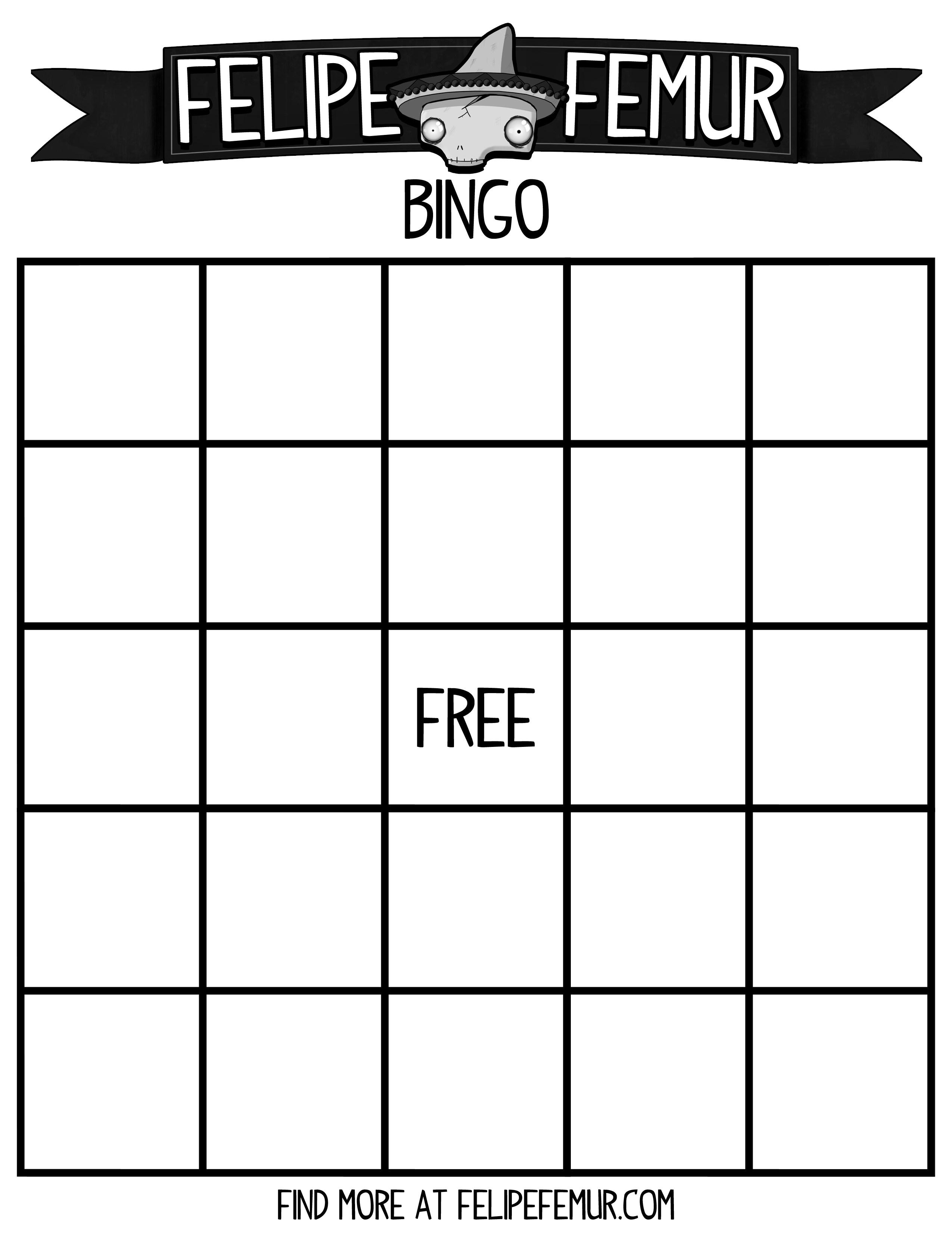 Free Bingo Cards ⋆ Felipe Femur - Free Printable Bingo Cards Random Numbers