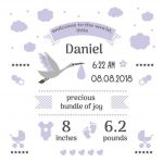 Free Birth Stats Board Svg, Png, Eps & Dxf| Free Svg & Png   Free Birth Announcements Printable