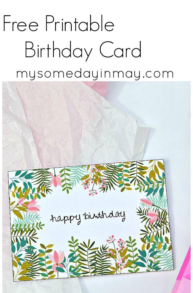 Free Birthday Card | Birthday Ideas | Free Printable Birthday Cards - Free Printable Birthday Cards
