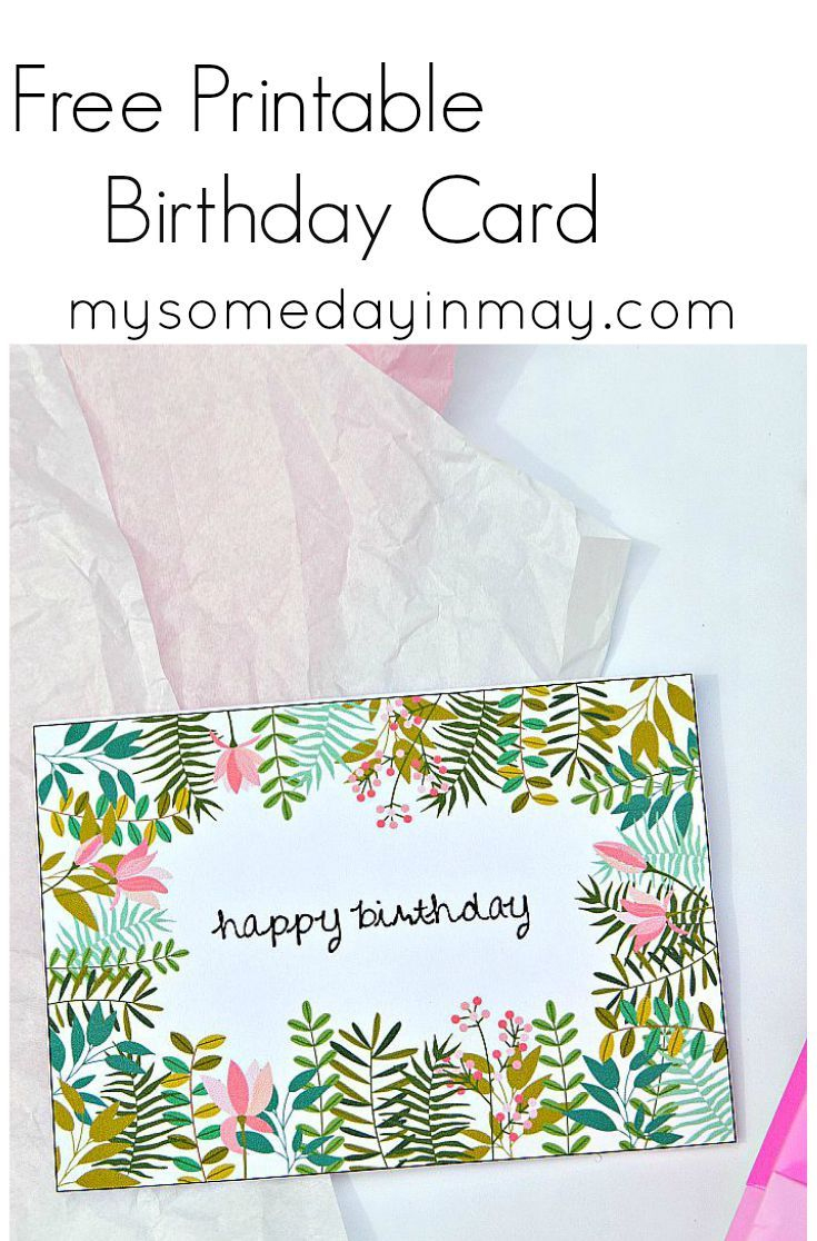 Free Birthday Card | Birthday Ideas | Free Printable Birthday Cards - Free Printable Cards