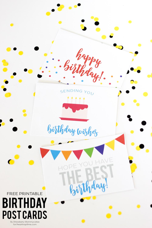 Free Birthday Printables - Eighteen25 - Free Printable Bday Cards