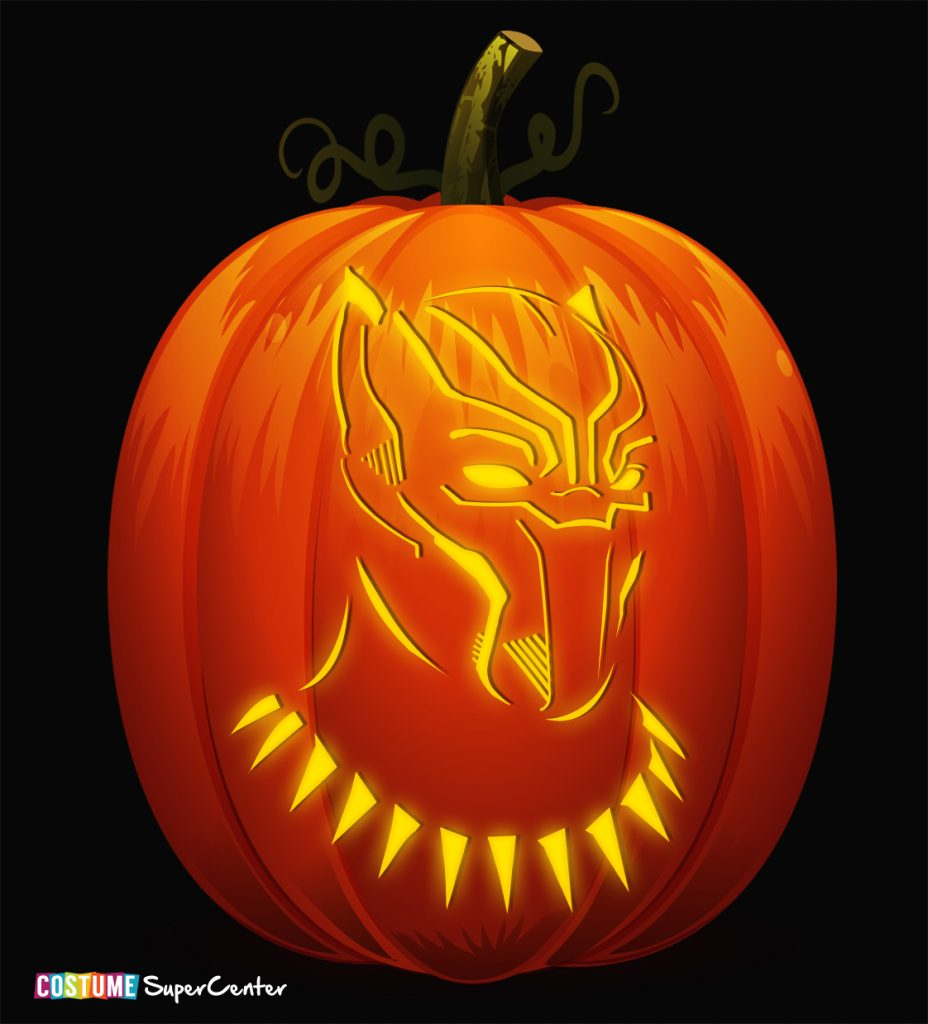 Free Black Panther Pumpkin Stencils | Costume Supercenter Blog - Free Printable Pumpkin Stencils