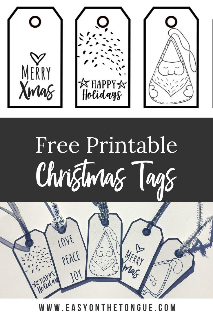 Free Black & White Christmas Gift Tags   Crafts Ideas - Christmas Gift Tags Free Printable Black And White