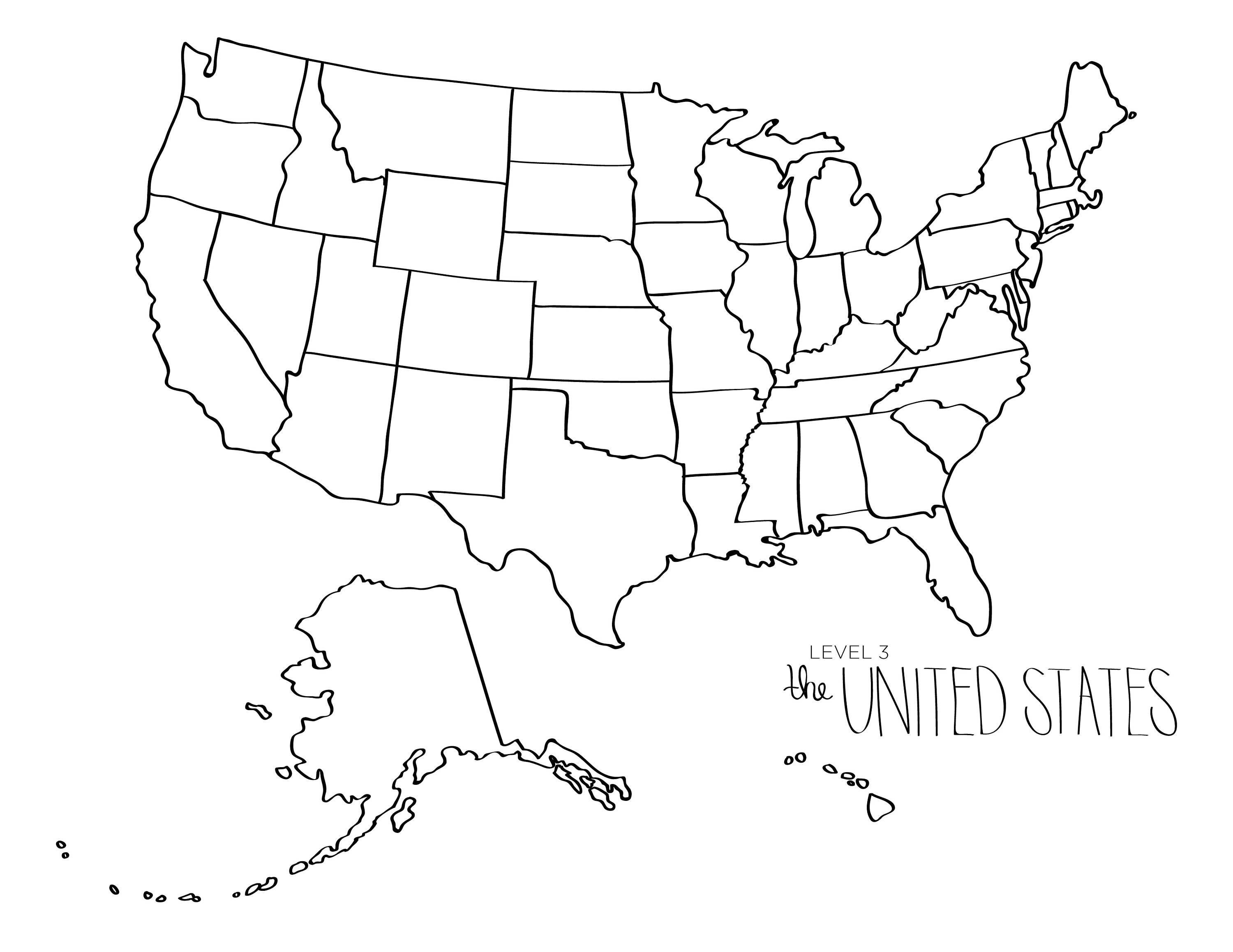 Free Blank Us Map Pdf Inspirational Free Printable Map The United - Free Printable Map Of The United States