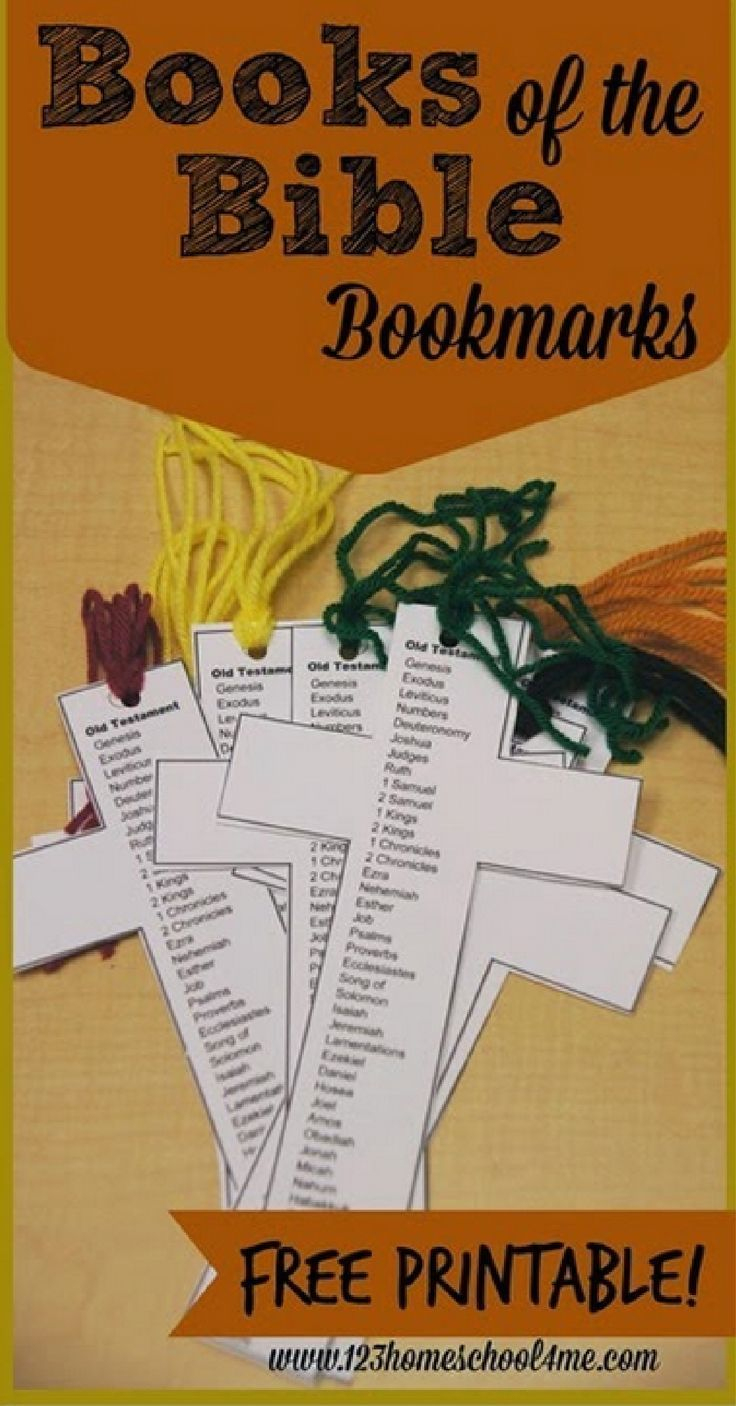 Free Books Of The Bible Bookmark | Children's Ministry Ideas - Books Of The Bible Bookmark Printable Free