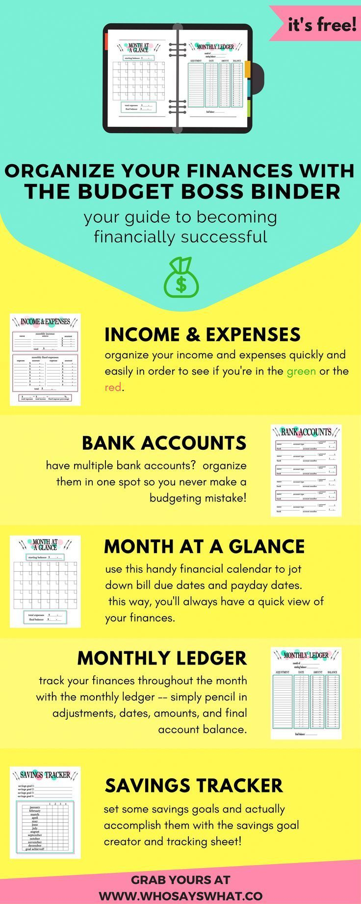 Free Budget Binder: The Easiest Way To Become A Budget Boss | Money - Free Printable Budget Binder Worksheets