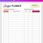 Free Budget Planner Printable   Printable Finance Planner | Office   Free Printable Bill Planner
