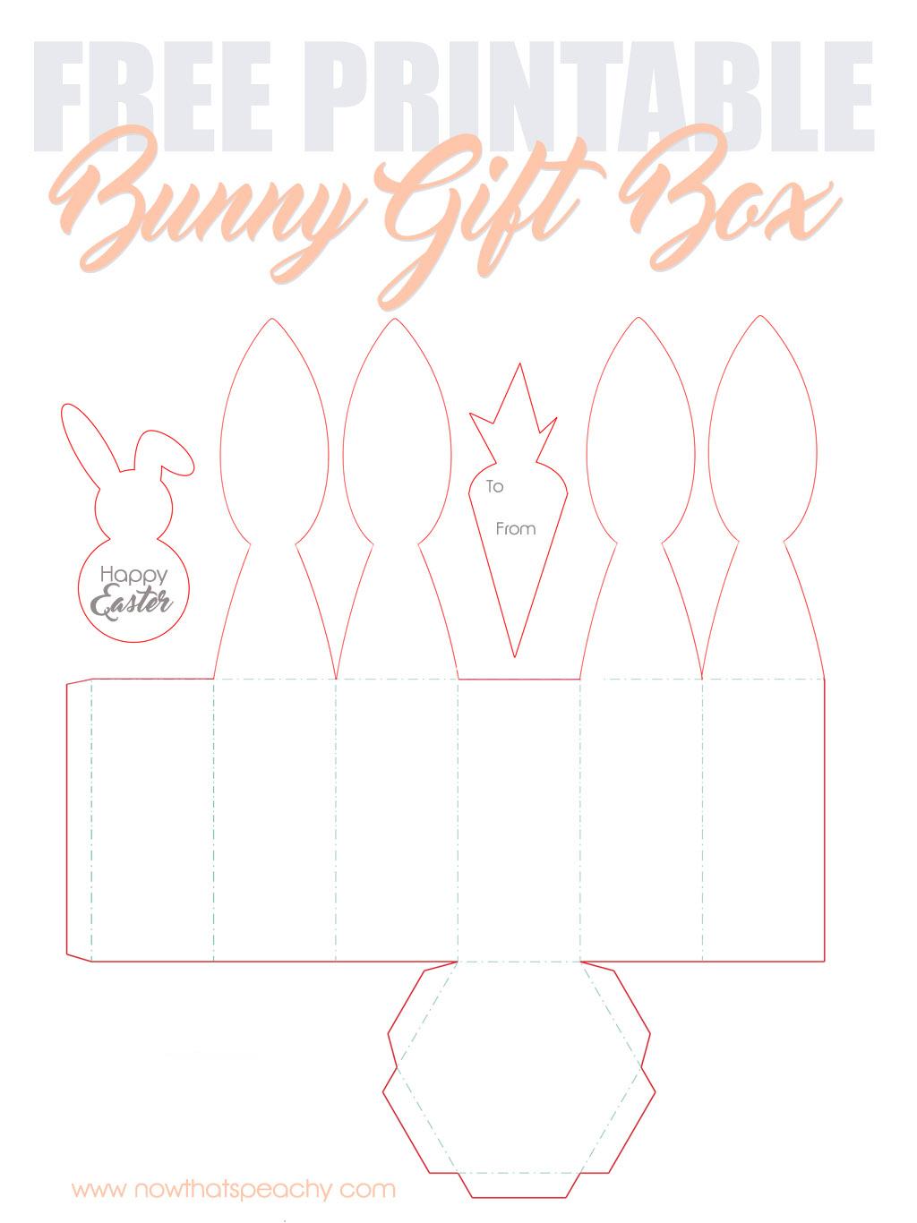 Free Bunny Ears Gift Box Printable For Easter | Now Thats Peachy - Free Printable Bunny Templates