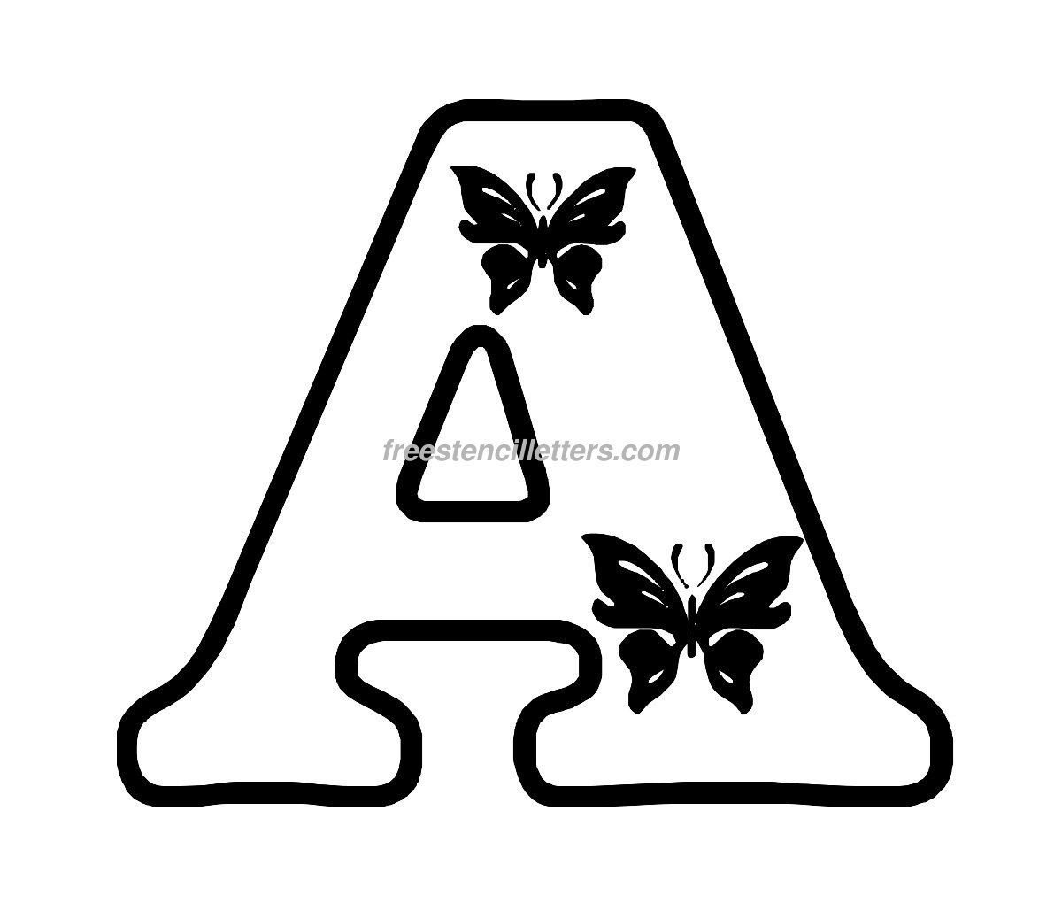 Free Butterfly Stencils To Print | Print A Letter Stencil | A - Free Printable Alphabet Stencils To Cut Out