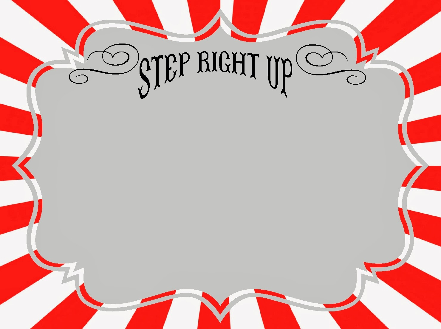 Free Carnival Signs & Printables | Roommomspot - Free Printable Sign Templates