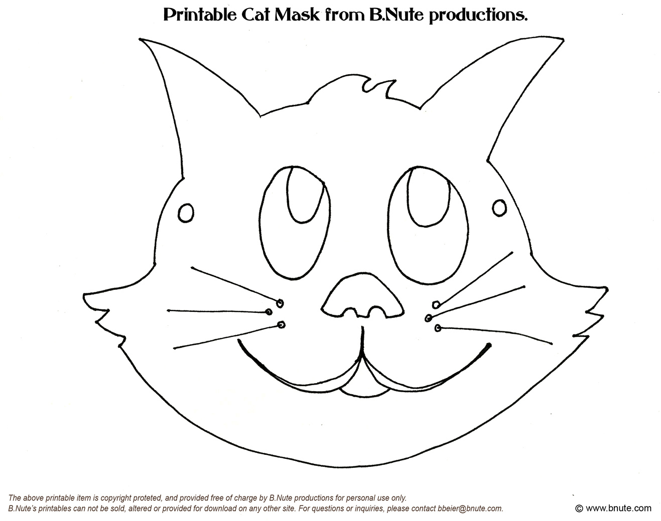 Free Cat Face Template, Download Free Clip Art, Free Clip Art On - Free Printable Pin The Tail On The Cat