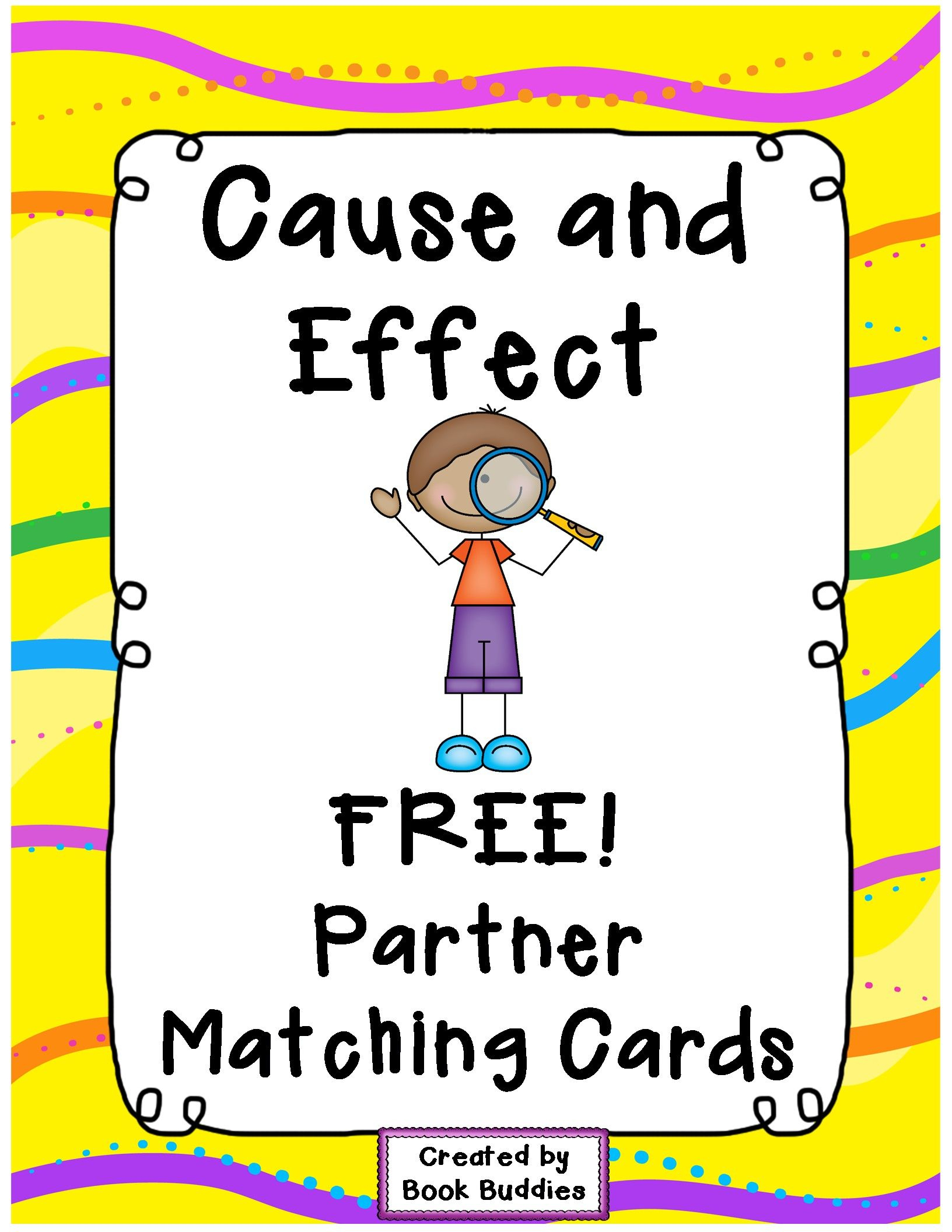 Free Cause And Effect Matching Partner Cards With Thanks From Book - Free Printable Cause And Effect Picture Cards