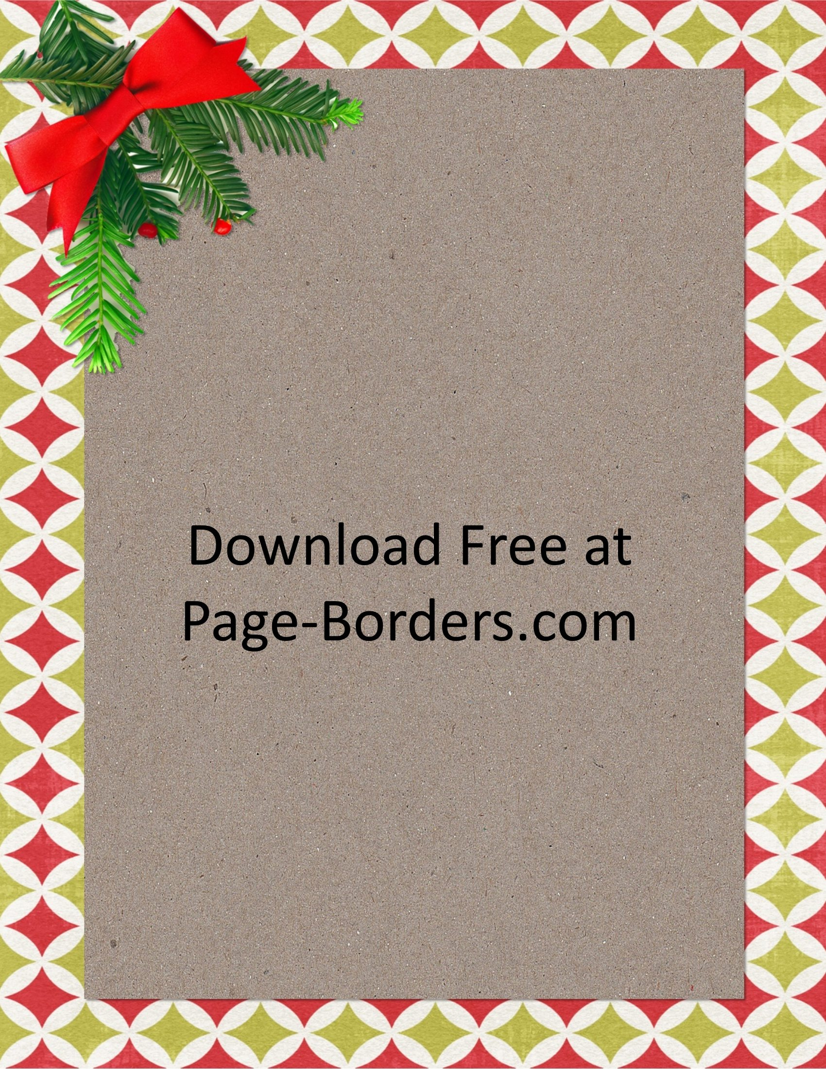 Free Christmas Border | Customize Online | Personal & Commercial Use - Free Printable Christmas Backgrounds