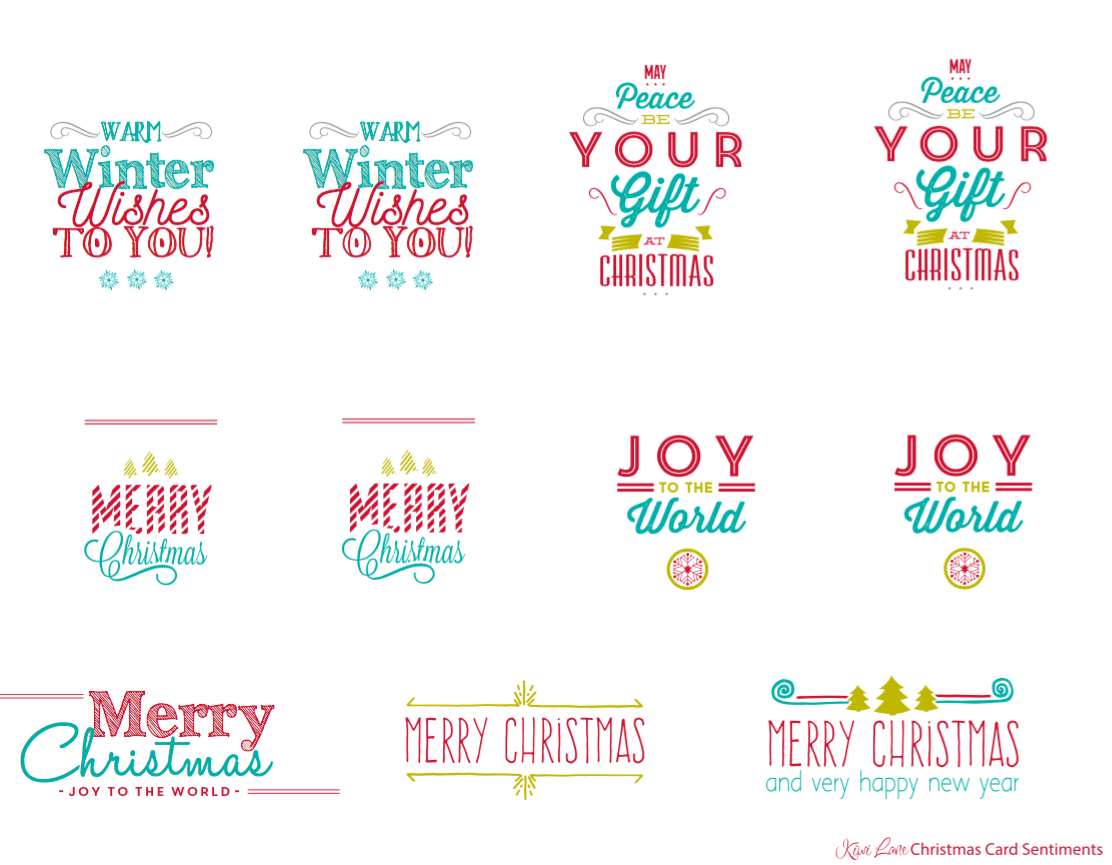 Free Christmas Card Printable | Free Printables | Pinterest - Free Printable Greeting Card Sentiments
