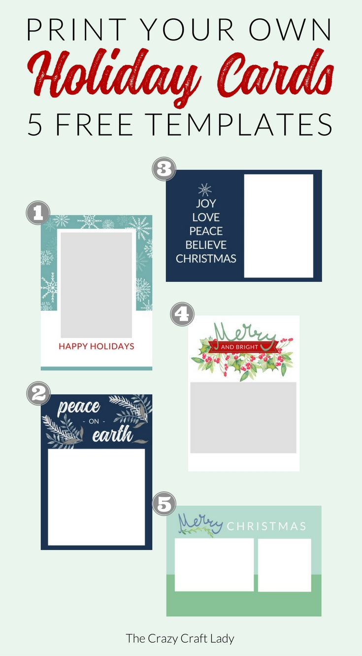 Free Christmas Card Templates - The Crazy Craft Lady - Christmas Cards For Grandparents Free Printable