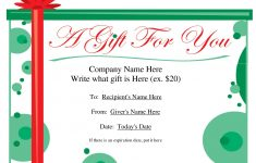 Free Printable Christmas Gift Voucher Templates