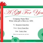 Free Christmas Gift Certificate Templates | Ideas For The House   Free Printable Gift Coupons