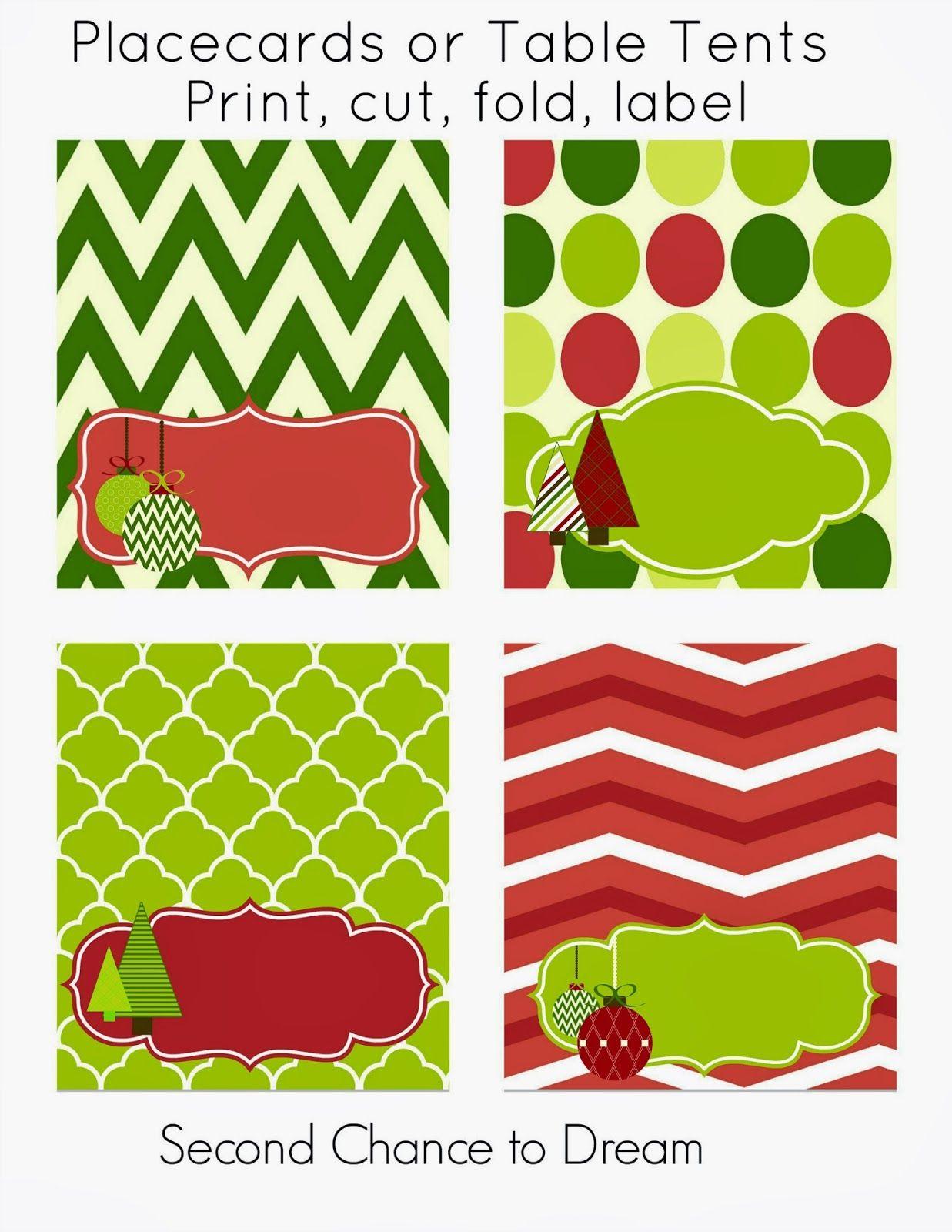 Free Christmas Party Printables | Printables | Pinterest | Christmas - Free Printable Christmas Tent Cards