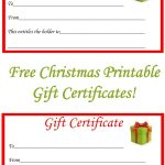 Free Christmas Printable Gift Certificates | Gift Ideas | Pinterest   Free Printable Gift Coupons